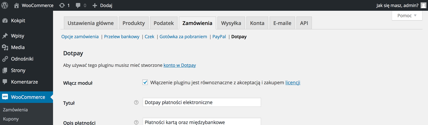 Dotpay WooCommerce